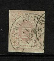 Luxembourg SC# 8, Used, some toning, sm, shallow bottom thin, see notes - S6565