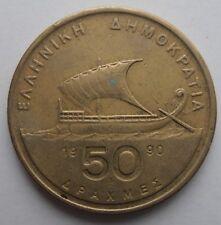 GREECE 50 DRACHMA 1990