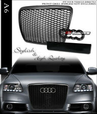2008-2011 AUDI A6 S6 BLK RS-SPORT HONEYCOMB MESH FRONT HOOD BUMPER GRILL GRILLE
