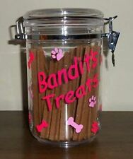 PERSONALIZED  Adorable Colorful PET DOG TREAT Jar container - DESIGN YOUR OWN!!
