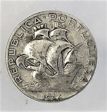 Silver coin 2.5 dollars 1944y. Republica Portuguesa. Portugal
