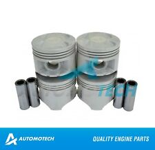 SIZE 020 - Piston Set For Honda Civic del Sol D15B1,2,6,7,8,4 1.5L