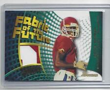 DEION BRANCH 2002 BOWMAN SENIOR BOWL FABRIC OF THE FUTURE 2 COLOR PATCH RC