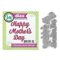 Happy Mother's Day Metal Die Cut Words Impression Obsession Cutting Dies DIE297