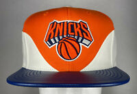 Mitchell and Ness NBA New York Knicks Pebble Bell Curve Snapback Hat, Cap, New