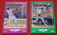 1988 Score Lot Of 5 Baseball Cards