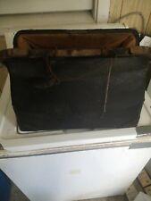 Antique Old Leather Doctors Bag Kansas Farm Fresh