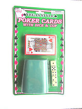 VEGAS STYLE POKER CARDS WITH DICE & CUP