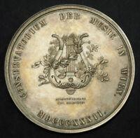 "1876, Austra. Silver ""Vienna Music Conservatory"" Award Medal w. Original Box!"