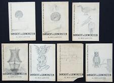 7 cartes DANSAERT & LOEWENSTEIN rue Laffitte BRUXELLES, avec dessins sketches