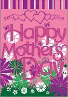 Happy Mothers Day Banner Flag 28 x 40 inch Indoor Outdoor Banner for Mom