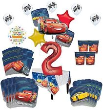 Disney Cars 2nd Birthday Party Supplies 16 Guest Kit and Balloon Bouquet