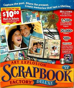 Nova Development Art Explosion Scrapbook Factory Deluxe 2.0 Pc New Sealed Boxed