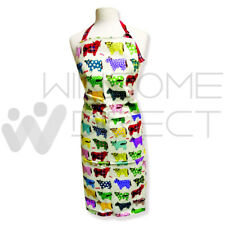 Multi-Color Highland Cow Unisex BBQ Ladies Apron 100% Cotton With Front Pocket
