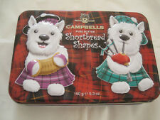 CAMPBELLS SHORTBREAD COOKIE EMPTY TIN: SCOTTY DOG Scottie Scottish Terrier