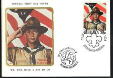 "Liberia 1979 Norman Rockwell Scouting ""WE,TOO,HAVE A JOB TO DO"" SC # 853-857 FDC"