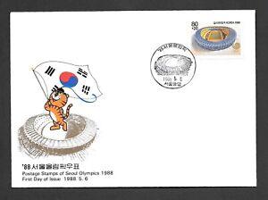 Korea Used Postcard,1988, sc# B54 / FKO - 39