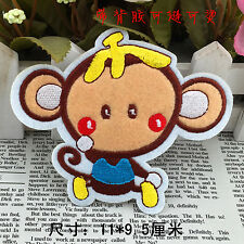 Sew on & iron on embroidery patches(Banana peel head monkey)