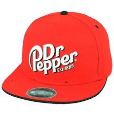 Dr Pepper Brand Famous Soda Pop Refreshment Drink Flat Bill Snapback Hat Cap