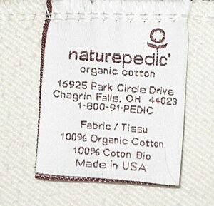 NATUREPEDIC ORGANIC COTTON CRIB WATERPROOF MATTRESS FITTED COVER PAD