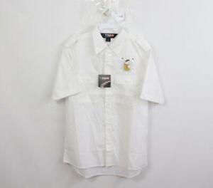 New Tri-Mountain Racewear Mens Medium Double Pocket Short Sleeve Button Shirt