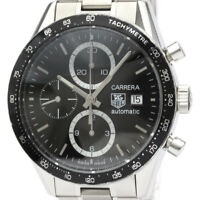 Polished TAG HEUER Carrera Chronograph Steel Automatic Watch CV2010 BF518979