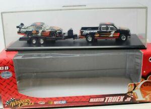 MARTIN TRUEX, Jr - RACE TEAM #1 - 3 PIECE SET - with a Display Case - 1/64 scale