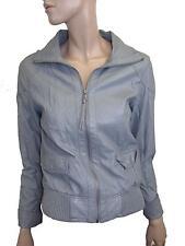Damas de imitación de chaqueta de cuero en color gris de Denim Co.. Talla 10 (D-38)