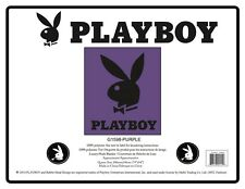 Light Purple/Black Hugh Hefner Playboy Tuxedo Bunny Head Mink Blanket Queen Size