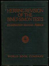 John P Herring / Herring Revision of the Binet-Simon Tests-Examination Manual