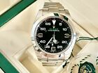 Rolex Air-King 116900 Black Dial Green Accents c.2017 -40mm- S/Steel-Box/Papers-