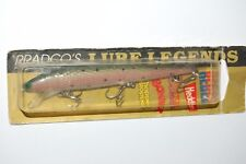 "old lure pradco's lure legends rainbow trout bass jerkbait 4 1/2"" heddon rebel"