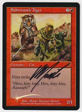 Signed FOIL Sabretooth Tiger LP 7th Artist Monte Michael Moore MTG Nate's Magic!