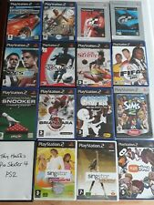 15 Spiele-ps2-Playstation 2-FIFA, PES, Gran Turismo, Ehrenmedaille & mehr