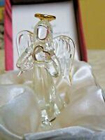 Beautiful Crystal Loving Angel Figurine IOB