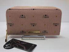 Rampage Logo double zip-around Wallet / clutch Pale Pink