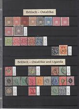 Britisch Ostafrika u. Uganda - British Colonies small Collection