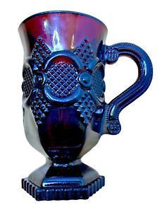 Ruby Red Pedestal Mug Goblet Avon Cape Cod Iced Coffee USA Glass 1876 Collection