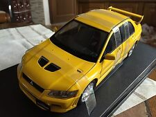AUTOart Mitsubishi Lancer EVO VII yellow 1/18 BNIB