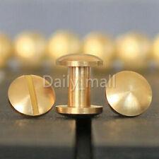 Brass Chicago Binding belt screw studs interscrew 4-20mm LeatherCraft Horse Tack