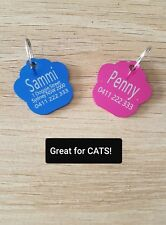 2 for $7.60! Small Paw Shape Dog Tag, Cat Tag, Pet Id tag, Free Engrave & Post