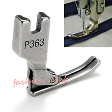 1x Stainless Industrial Zipper Presser Foot P363 For Brother Juki Sewing Machine