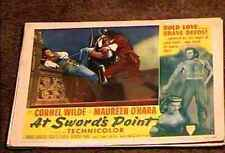 AT SWORDS POINT 1952 LOBBY CARD #4 CORNEL WILDE