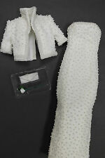 Franklin Mint Princess Diana Porcelain Doll White Beaded Ensemble Fits 17""