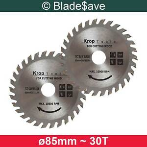 Metabo Circular Saw Blade Fine Cut TCT 85mm x 15mm x 30T by KROP (2 Pack)