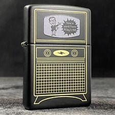 Riley's 66 Custom Zippo Lighter - Vintage TV - Black Matte - 35 of 50 Made!