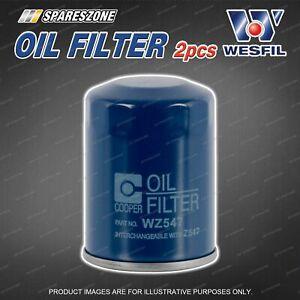 2 x Wesfil Oil Filters for Honda Jazz GD GE GK Legend KB Odyssey RA RB 16V 8V