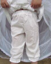 Costume Pioneer Trek Clothing Bloomers ~White Pantaloons~ 14 Child  Free Ship
