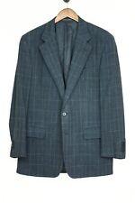 Dunhill x Ermenegildo Zegna Wool Linen Sport Coat 40L Dark Blue Beige Windowpane