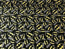 BATMAN LOGO 100% cotton fabric  marvel dc comics comicon retro BAT  MAN